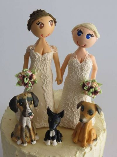 Customised handmade Wedding Cake Toppers
