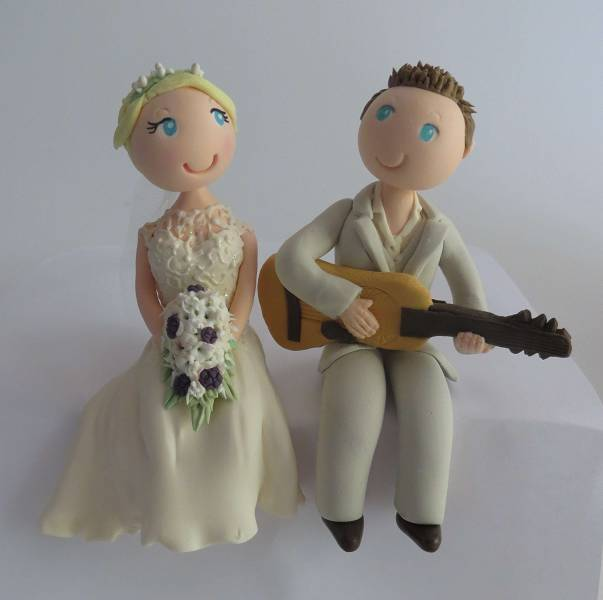 Guitar Wedding Cake Topper