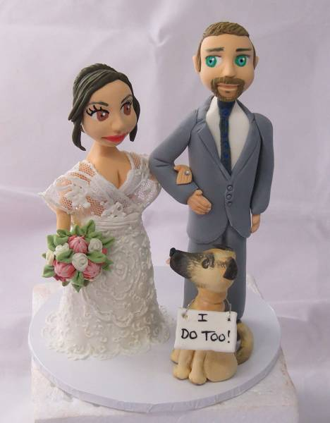 Bride & Groom Wedding Cake Toppers