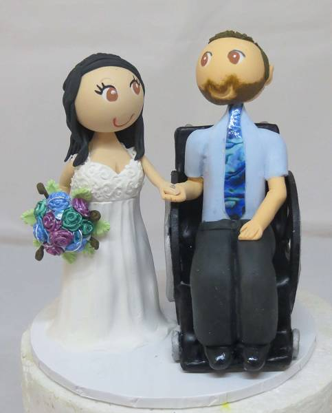 Wheelchair/Unique Wedding Cake Topper