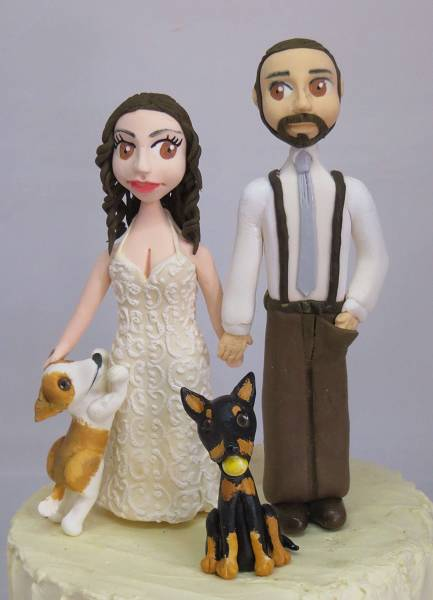 Wedding Topper with dogs