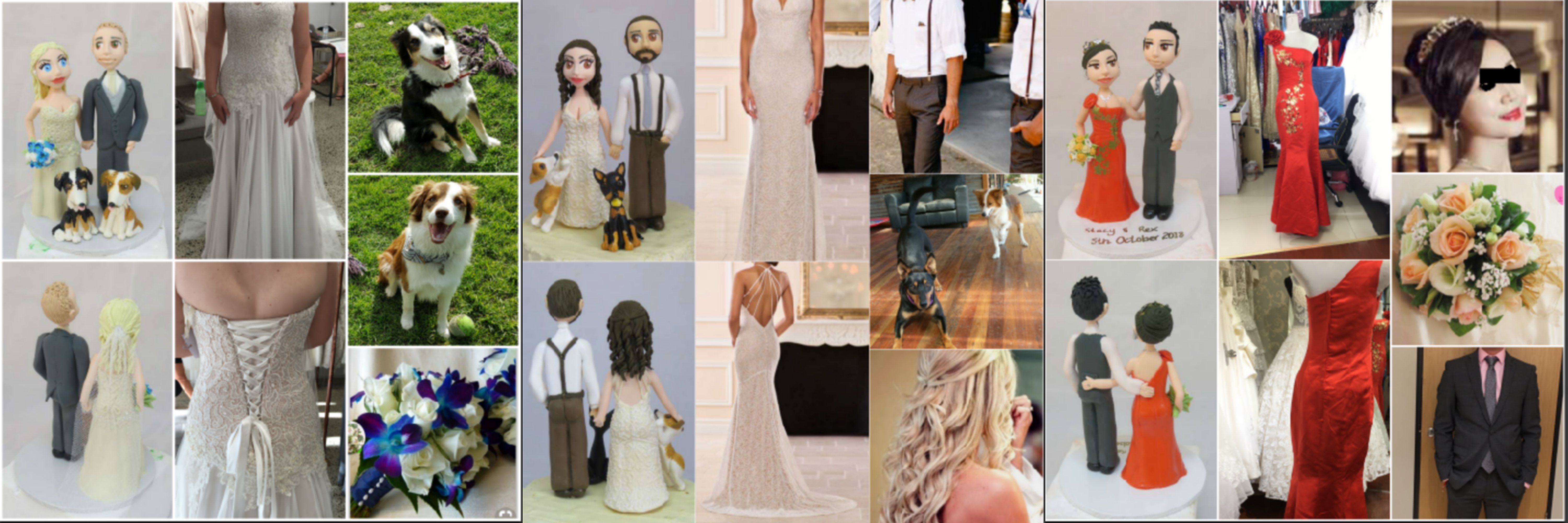 Personalised Bride and Groom figurines Cake Toppers image 6