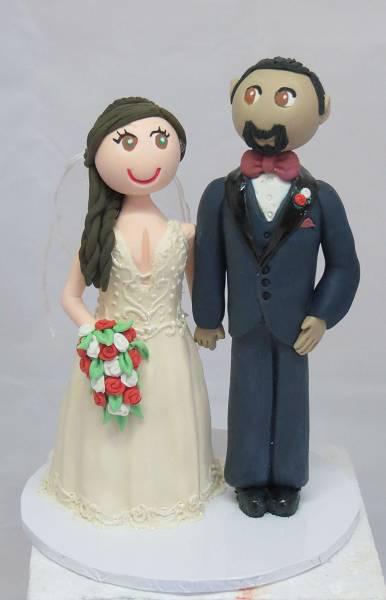 Standing Bride & Groom cake topper