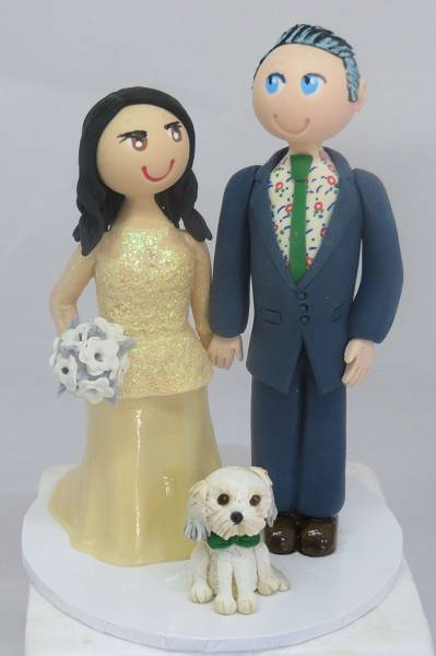 Bride & Groom with dog