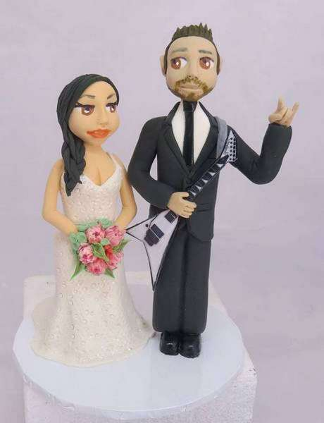 """rock on""Wedding Cake Topper"
