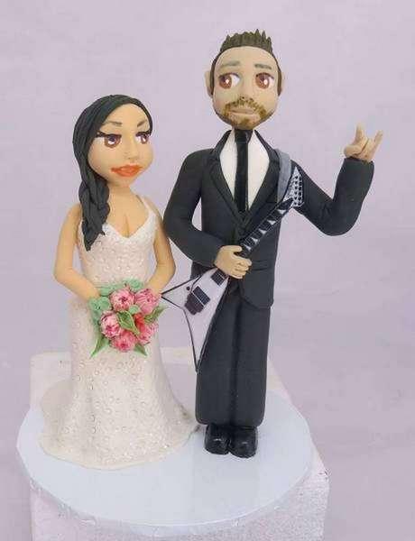 """rock on""Wedding Cake Topper"