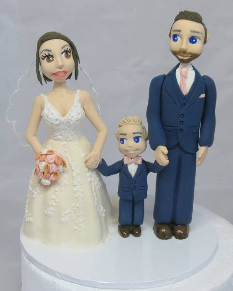 Bride & Groom with child