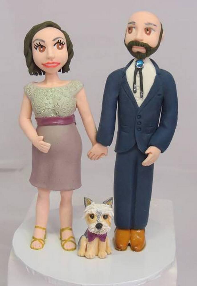 Handmade Bride & Groom Cake Topper