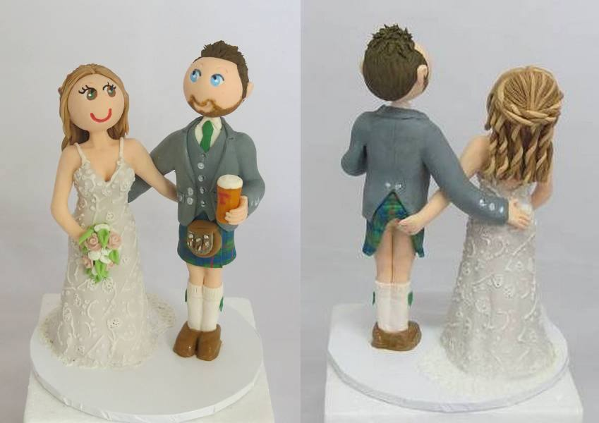 Scottish Couple Cake Topper